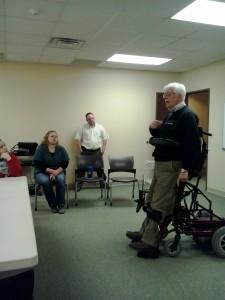 Standing Wheel  Chair Demonstration