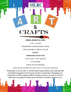 Arts & Crafts-Youth Group @ Independent Living Resource Center