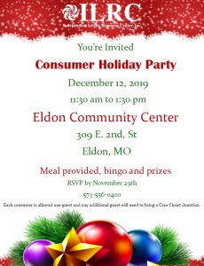 Eldon Consumer Holiday Party @ Eldon Community Center