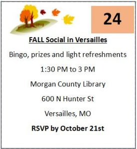 Versailles Fall Social @ Morgan County Library