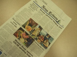Front Page of News Tribune