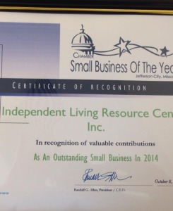 JC Chamber Recognition as an Outstanding Small Business of 2014