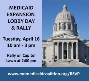 Medicaid Expansion Rally Day flier April 16, 2013