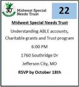 Midwest Special Needs-Able Accts, Charitable Grants & Trust prog. @ Independent Living Resource Center