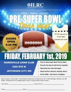 Pre-Super Bowl Trivia Night @ Wardsville Lions Club | Jefferson City | Missouri | United States