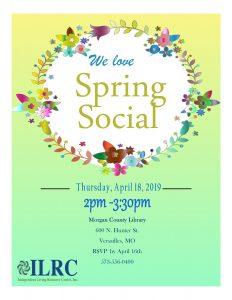 Spring Social-Versailles @ Morgan County Library