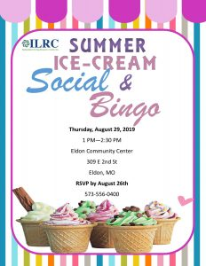 Eldon Summer Ice Cream Social & Bingo @ Eldon Community Center