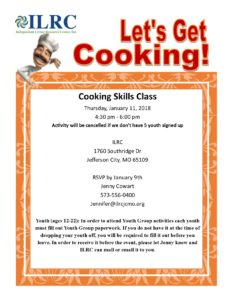 Cooking Skills has been cancelled! @ Independant Living Resource Center, Inc. | Jefferson City | Missouri | United States