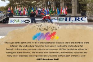 Thank you for supporting the Multicultural Fall Festival.